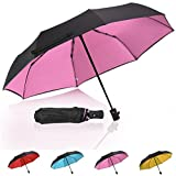 Windproof Umbrella Auto Open Close Folded Umbrella Double Canopy Vented Waterproof Umbrella Compact Pink umbrella - by QH