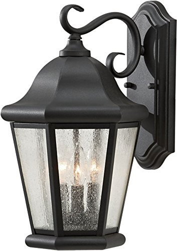 - Feiss OL5902BK Martinsville Outdoor Patio Lighting Wall Lantern, Black, 3-Light (10