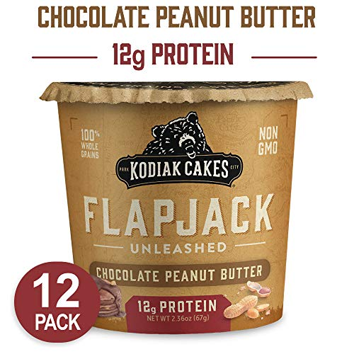 Kodiak Cakes Pancake On the Go High Protein Snack, Chocolate Peanut Butter, 2.5 Ounce (Pack of 12)