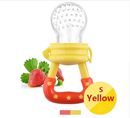 Chupete de bebé, Mordedor Juguetes alimentos Frescos Frutas Toddler Nibbler Seguridad Alimentador Antiahogo y Tetina Extra de Silicona para Bebé ...