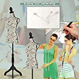 Mannequin Torso Manikin Dress Form Cover Mannequins Female Body Sewing Dress Form with Adjustable Tripod Stand 60-67 Inch Height Stand for Dress Display Clothes Display Jewelry Display