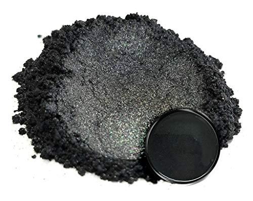 Eye Candy Mica Powder Pigment Samurai Black (50g) Multipurpose DIY Arts and Crafts Additive   Natural Bath Bombs, Resin, Paint, Epoxy, Soap, Nail Polish, Lip Balm