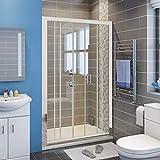"walk in shower dimensions ELEGANT SHOWERS 58.5""- 60"" W x 72"" H Double Sliding Glass Shower Doors, Semi-Frameless 2 Sliding Panels and 2 Stationary Panels Shower Clear Glass Doors, Chrome Finish"