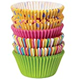 : Wilton 415-8121 150/Pack Baking Cup, Dots/Stripes, Standard