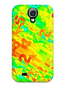 Hot Tpu Cover Case For Galaxy/ S4 Case Cover Skin - Bright Numbers