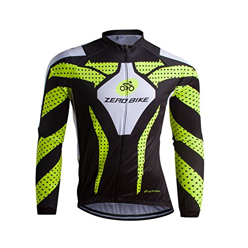 ZEROBIKE® Mens Soft Long Sleeve Breathable Bicycle Cycling Jersey Polyester Clothing Outdoor Sports Fall Autumn