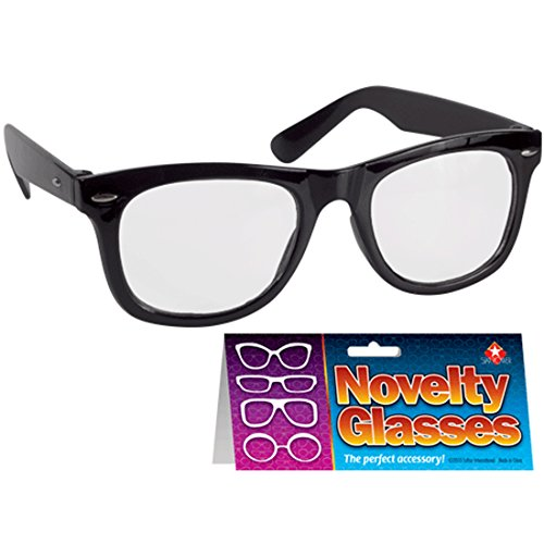 Loftus International Star Power Reporter Black Frame Costume Glasses, Black, One Size Novelty Item -