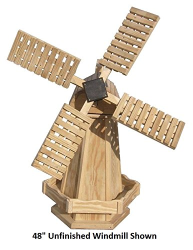 Backyard Crafts Amish-Made Working Dutch Windmill Yard Decoration 48