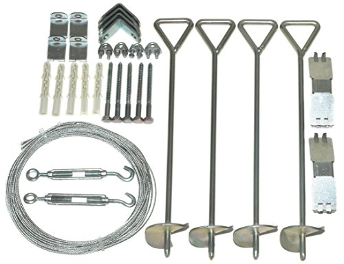 Palram Anchor Kit for Nature Series Greenhouses, Silver by Palram