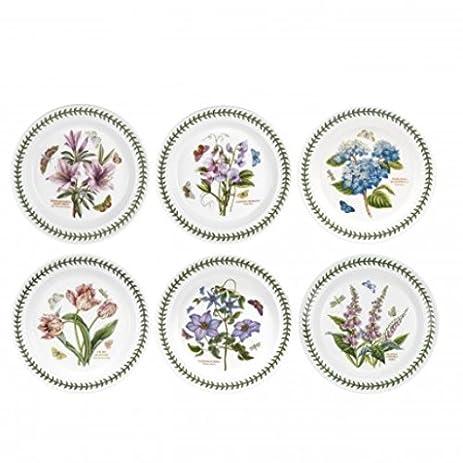 Amazon.com | Portmeirion Botanic Garden Set of 6 Dinner Plates ...