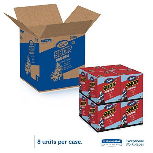 """Kimberly-Clark 75190 Scott Shop Towels, 10"""" x 12"""", Blue (1 Box of 200)"""