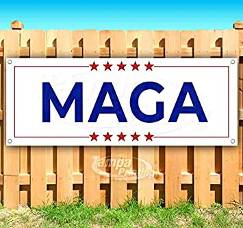 Flag, Store MAGA 13 oz Heavy Duty Vinyl Banner Sign with Metal Grommets Advertising Many Sizes Available New
