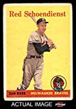 1958 Topps # 190 Red Schoendienst Milwaukee Braves (Baseball Card) Dean's Cards 2 - GOOD Braves