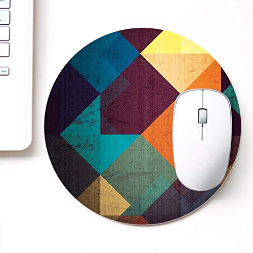 DASM United UVDesigner Printed Round Mouse Pad for Laptop n Computer | Dirty Blocks | Mousepad for Gamers | Gaming…