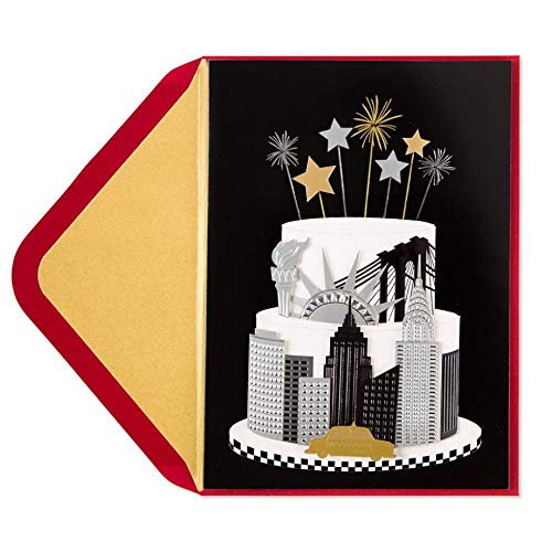 Papyrus by Taylor Swift New York Cake Birthday Card, 1 Each