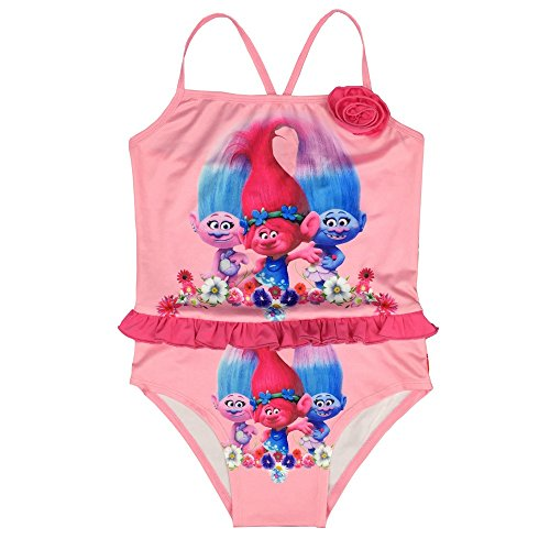 Hababy Little Big Girls One Piece Swimsuit Cartoon Cover Skirts Bathing Suit Swimwear 2-8 Years