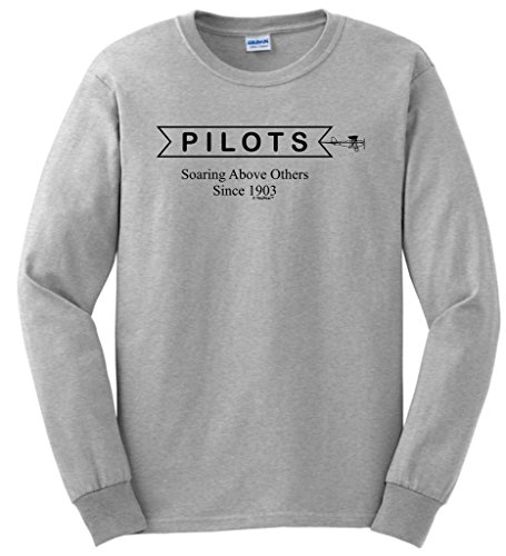 Pilot Aviation Gift Soaring Above Others Since 1903 Long Sleeve T-Shirt Small (New Great Planes Wing)