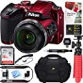 Nikon COOLPIX B500 16MP 40x Optical Zoom Digital Camera w/Wi-Fi (Certified Refurbished) + 16GB SDHC Accessory Bundle