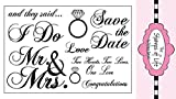 The Stamps of Life Wedding2Celebrate Wedding Stamps for Card-Making and for Scrapbooking by Stephanie Barnard - Married Marriage Invitations and Sentiments