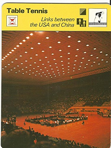 1977-79 Sportscaster Card, 39.06 Table Tennis, USA & China