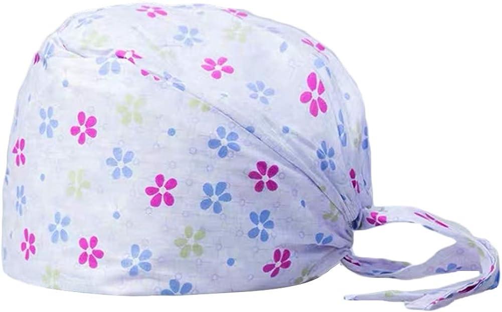 gerFogoo Cotton Scrub Cap Chirurgische verstellbare Baumwollkappe Medical Doctor Bouffant Turban Cap mit Sweatband Scrub Hat f/ür Frauen//M/änner