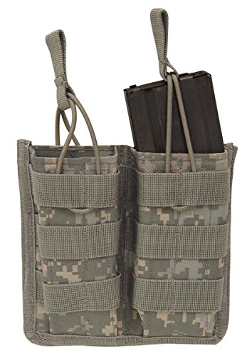 VooDoo Tactical 20-8585075000 M4/M16 Open Top Mag Pouch With Bungee System, Army (System M4 Double Mag Pouch)
