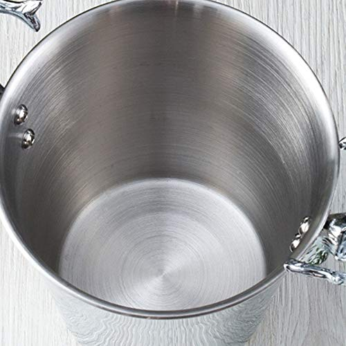 Home & Kitchen Ice Buckets & Tongs Andifany 3L Ice Bucket Stainless Steel Wine Ice Bucket Wine Cooler Chiller Bottle Cooler Champagne Beer Cold Water Machine Ice Bucket Silver