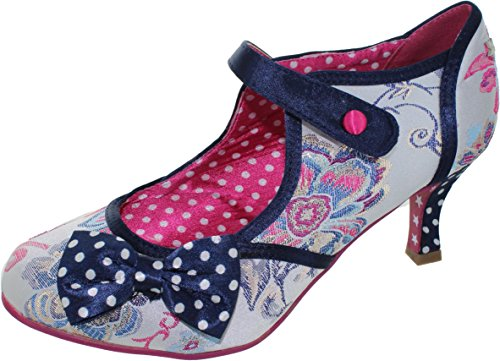 7 Navy Occasion Multi Clara Browns Womens Navy Shoes Silver Couture Multi Size Joe Silver UK 06qUxa0