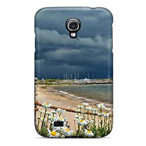 RachelMHudson HnwVDCK4094LAimb Case Cover Galaxy S4 Protective Case Cloudy Coastline