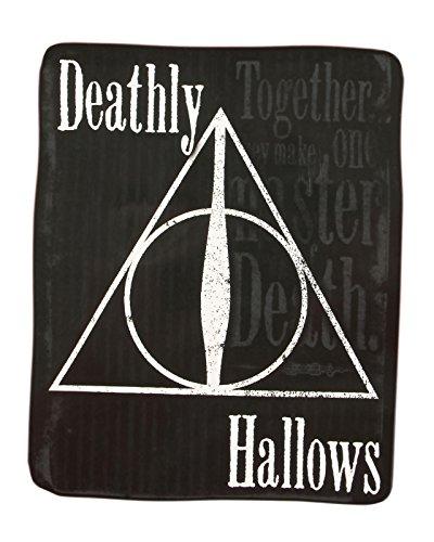 Harry Potter Deathly Hallows Plush Throw Blanket