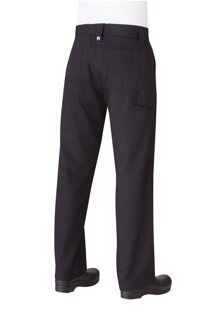 Chef Works Men's Professional Chef Pants, Black, 38