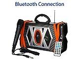 Boytone bt-36m Altavoz Bluetooth Portátil y con Micrófono, Radio FM, Puerto USB   mp3  AUX, Puertos, Construido en Batería Recargable   Intermitente DJ Luces   Mando a Distancia