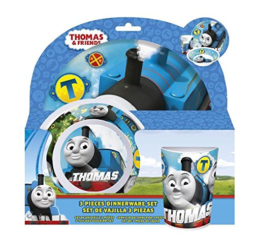 Thomas The Tank Engine Hard Melamine Meal Set, Plate, Bowl and Tumbler (Thomas The Tank Engine Plates And Cups)