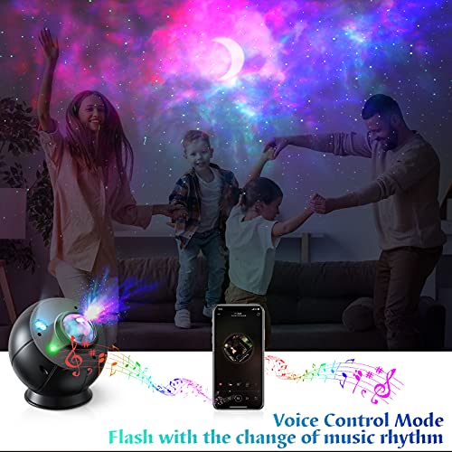 Star Projector, FAUETI WiFi Starry Galaxy Projector Night Light for Bedroom, Basketball Shape Moon Sky Light with Smart Voice Control Timer Work with Alexa Google Assistant for Kids Adults Home Party