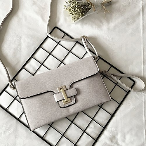 Grey Portfolio Envelope Felice Handbag Ladies Pattern Oversize Clutch Evening Fashionista Crocodile Leather BxaqpPO