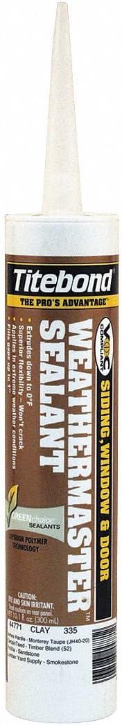 Titebond Sealant, 10.1 oz, Clay 10.1 oz. Clay For Siding, Windows, Doors and Vents 44771B - 1 Each