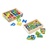 Melissa & Doug Disney Mickey Mouse & Friends Magnet Toy With 52 Letter Magnets and 20 Character Magnets