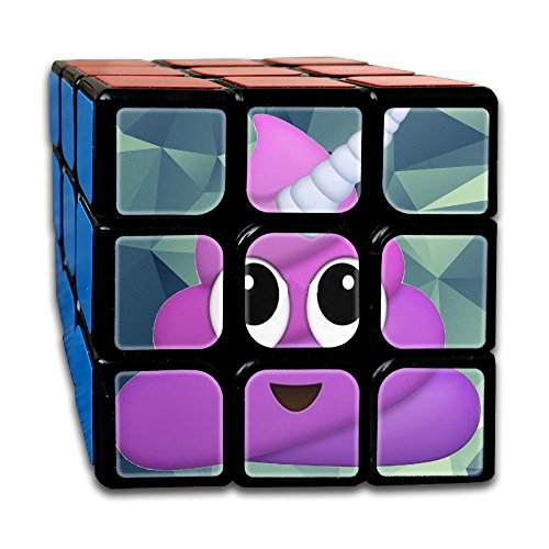 Cube Game Magic Speed Cube Custom Purple Unicorn Poop Emoji 3x3x3 Puzzles Toys Super Durable With Vivid Colors Hands Dice For Kids & Adults For The Office Or Classroom