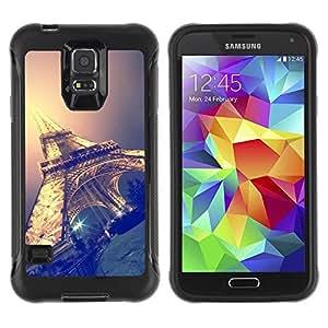 Paccase / Suave TPU GEL Caso Carcasa de Protección Funda para - Eifel tower sky night Paris France - Samsung Galaxy S5 SM-G900