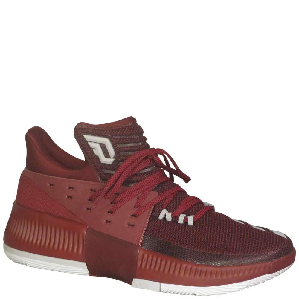 innovative design 59fa0 32255 Galleon - Adidas Mens Dame 3 Basketball MaroonWhiteGrey Two 10.5 D(M) US