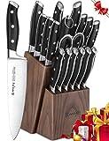 Best Knife Knives - Knife Set, 18-Piece Kitchen Knife Set with Block Review
