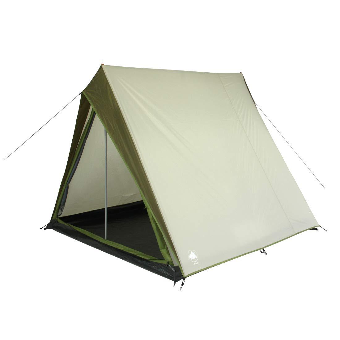 10T Camping-Zelt Dundas 3 Hauszelt mit Schlafkabine für 3 Personen Outdoor Familienzelt, Firstzelt mit Dauerbelüftung, eingenähte Bodenwanne, wasserdicht mit 5000mm Wassersäule