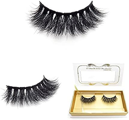 ec6eba009ad Amazon.com : 100% Siberian 3D Mink Fur False Lashes HandMade Wispy Natural  Thick Reusable Mink Fake Eyelashes : Beauty