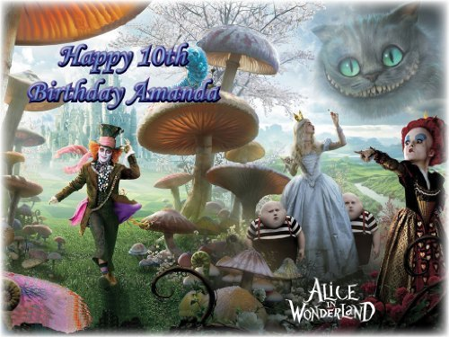 Supply - Alice in Wonderland Edible Icing Image #2-8.0