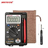 NKTECH NK921+ Pocket Digital Multimeter Voltmeter Mini Ammeter DMM True RMS Auto Range Meter 3999 Count AC DC Voltage Capacitance Resistance Diode Continuity Test VC921 Upgrade Version