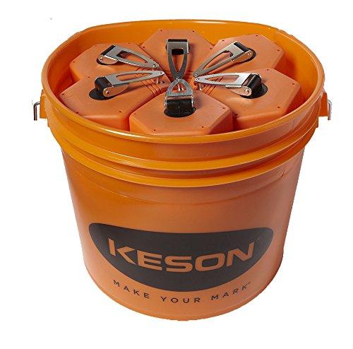 Keson P100BKT Chalk Line Reel, 1.5mm String, 2-4-Ounce Capacity, 100-Foot (30-Pack) (Large Capacity Chalk)