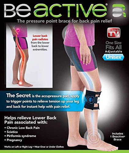 BeACTIVE Braces Beactive Acupressure for Sciatica Pain As Seen on TV Set of 2 Braces Black/Blue