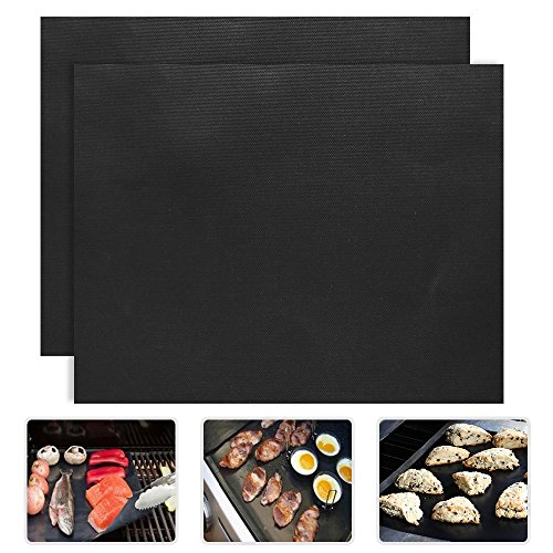 2 Piece of (15.75″x 13″) BBQ Grill Mat-Nonstick, Reusable and Dishwasher Safe