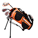 Golphin Kids Package Golf Club Set, Right Hand, 39″- 43.5″, Orange For Sale