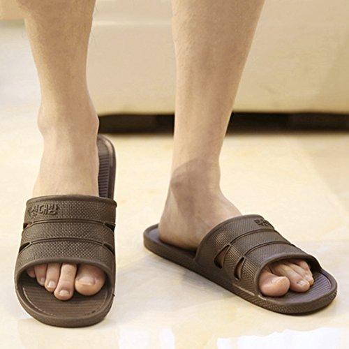 Qianle Home Anti House Unisex Slipper Slip Indoor Shoes Slippers Grey Bathroom wUwFCAq